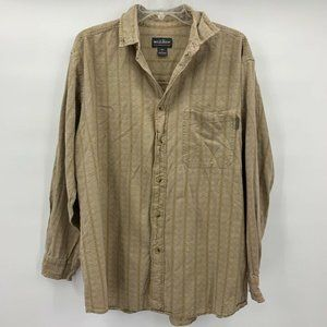 Woolrich Mens Shirt Beige Long Sleeve Size L